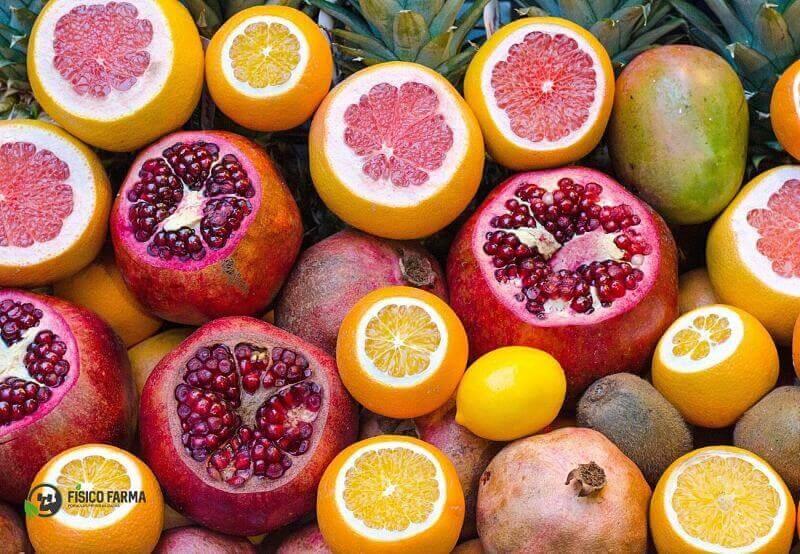 frutas cítricas termogênicas